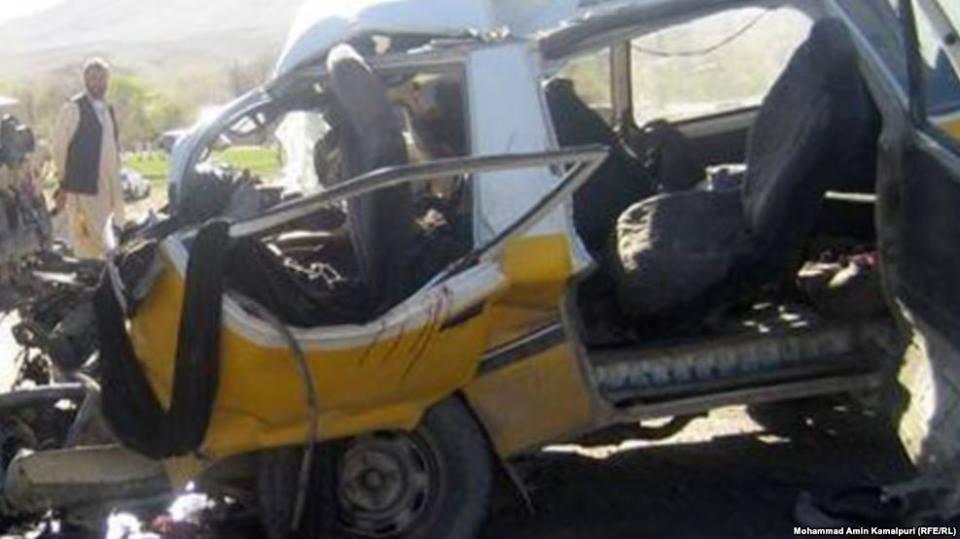 حادثه ترافیکی در ولایت دایکندی ۱۶کشته وزخمی برجای گذاشت