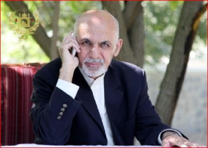 رییس جمهورغنی با پادشاه عربستان سعودی تلفنی صحبت کرد