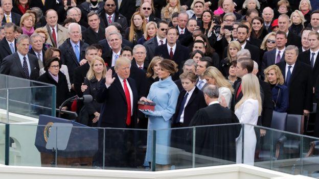 ترامپ سوگند خورد/ آغاز دوران ترامپ در امریکا