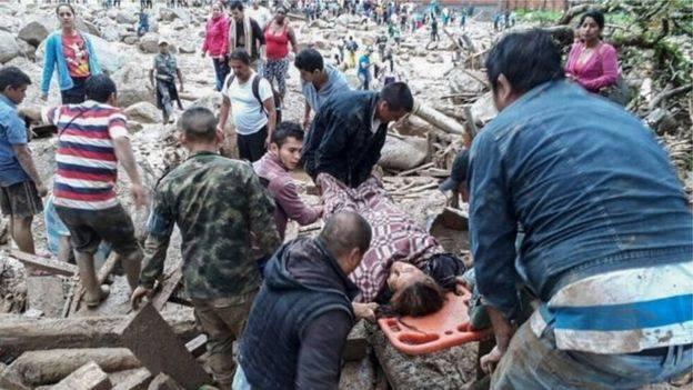 کولمبیا کې ځمکښوېدنې ۶۲۸ تنو ته مرګ ژوبله اړولې