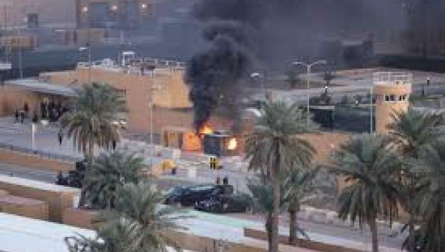 حمله موشکی به سفارت ایالات متحده در منطقه سبز بغداد