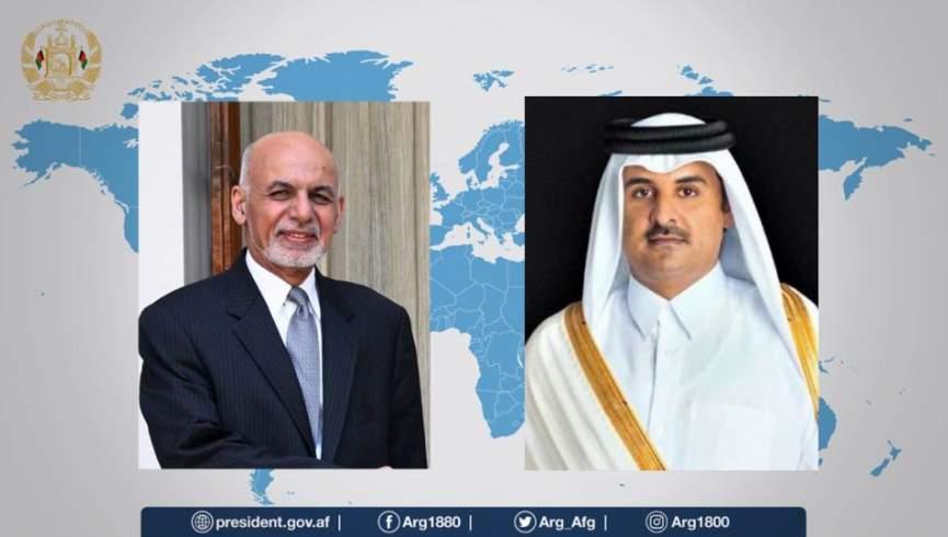 رئیس جمهور غنی و امیر قطر خواستار آتش بس فوری شدند