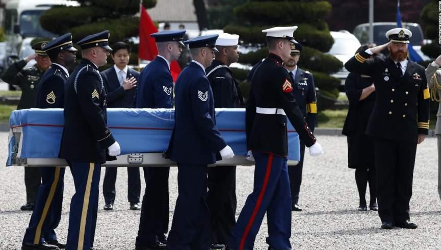 واشنگتن پس از 67 سال در حال بازیابی اجساد 70 سرباز کره ای است