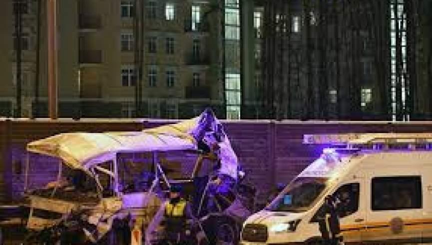 تصادف جاده ای در مسکو  49 نفر کشته و زخمی شدند