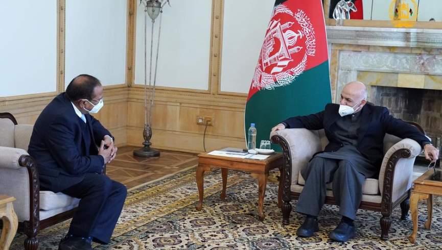 رئیس جمهور غنی با مشاور امنیت ملی هند دیدار کرد