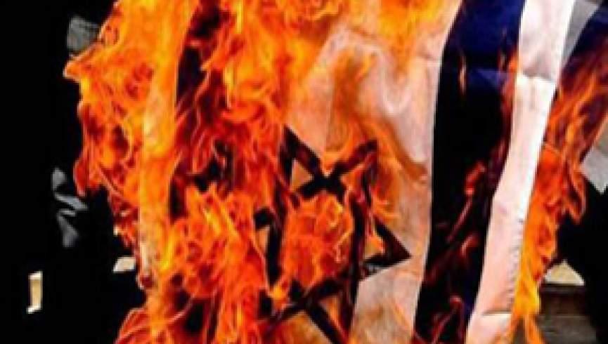 سودانی ها پرچم اسرائیل را به آتش کشیدند