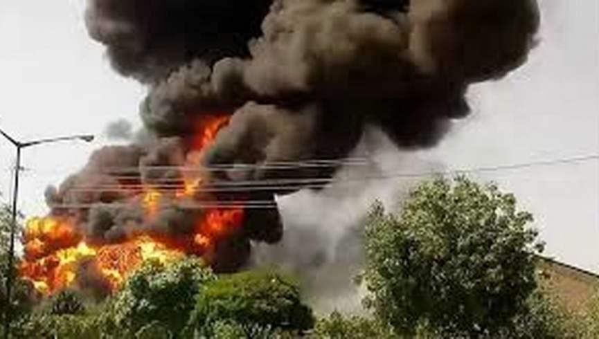 آتش سوزی گسترده در پایتخت ایران
