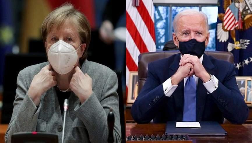 مرکل و بایدن درباره افغانستان و ایران صحبت می کنند