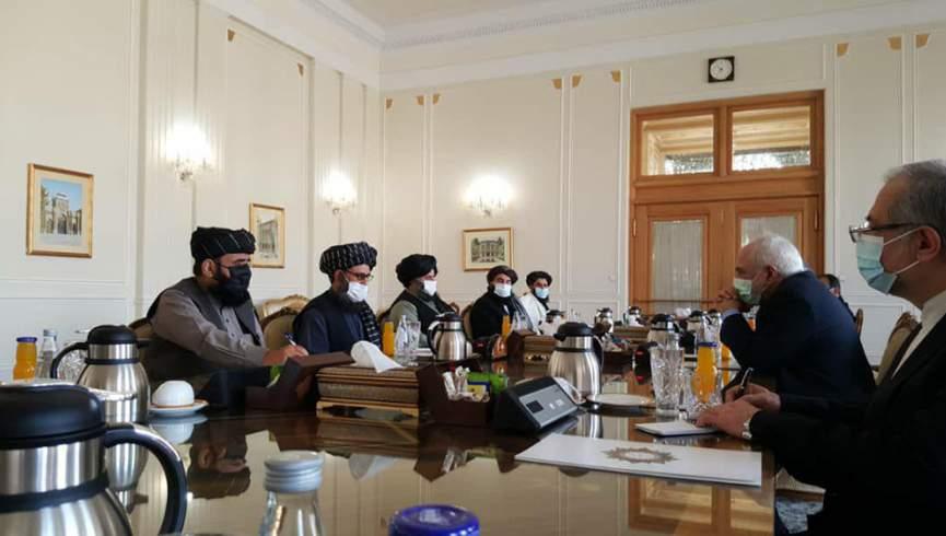 ملا عبدالغنی برادر با وزیر امور خارجه ایران دیدار کرد