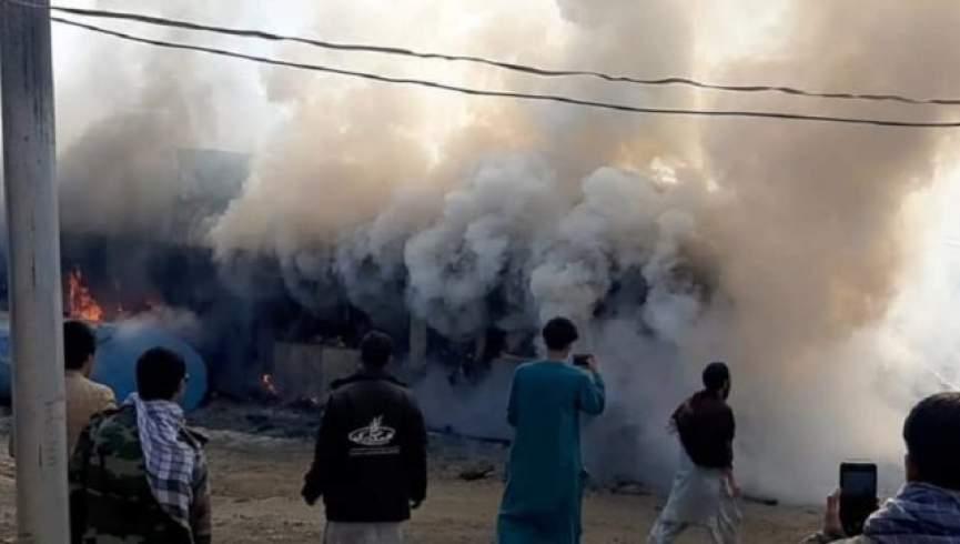 آتش سوزی مانع از ارائه خدمات بهداشتی به بیمارستان غور کرونا نمی شود