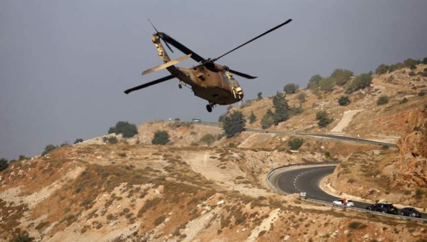 بالگردهای اسرائیلی به سمت قنیطره سوریه حرکت می کنند