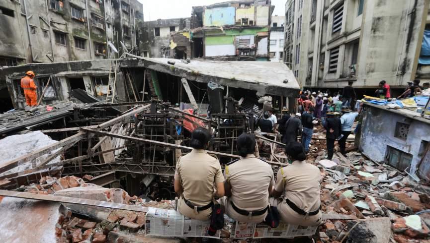 ریزش ساختمان در هند باعث کشته شدن 11 نفر شد